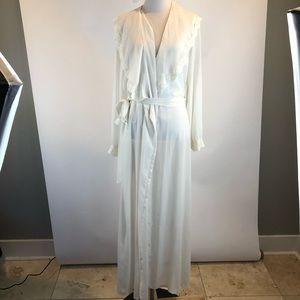 Victoria Secret Vintage White Semi Sheer Wrap Robe
